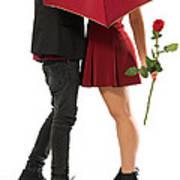Valentines Couple Art Print by Carlos Caetano