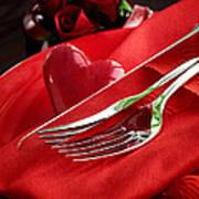 Valentine's Day Dinner Art Print