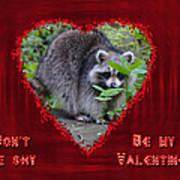 Valentine's Day Greeting Card - Raccoon Art Print