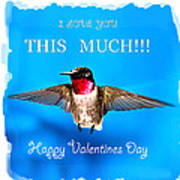 Valentines Day I Love You This Much Art Print