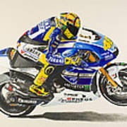Valentino Rossi Art Print