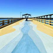 Valero Beach Fishing Pier Art Print