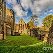 Valle Crucis Abbey Ruins Art Print by Adrian Evans