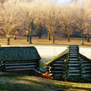 Valley Forge Cabins Art Print