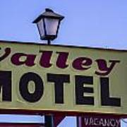Valley Motel Art Print