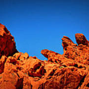 Valley Of Fire Nevada Desert Rock Lizards Art Print