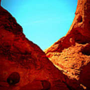 Valley Of Fire Nevada Desert Sand People Art Print