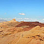 Valley Of Fire Pano Art Print by Jane Rix