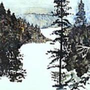 Valley Snow Art Print