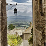 Valley View - Assisi Art Print