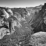 Valley View At Glacier Point Art Print