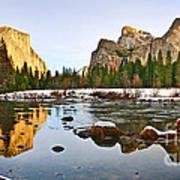 Vally View Panorama - Yosemite Valley. Art Print