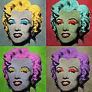 Vampire Marilyn Set Of 4 Art Print