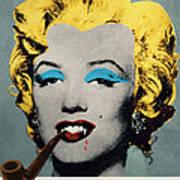 Vampire Marilyn With Surreal Pipe Art Print