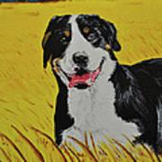 Van Gogh And Mountain Dog Art Print