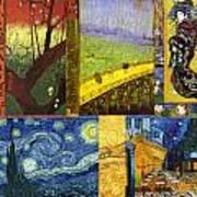 Van Gogh Collage Art Print