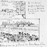 Van Gogh Letter, 1888 Art Print