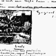Van Gogh Letter Art Print