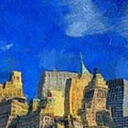 Van Gogh Meets Manhattan Art Print