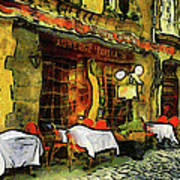 Van Gogh Style Restaurant Art Print