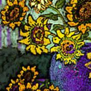 Van Gogh Sunflowers Cover Art Print