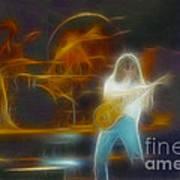 Van Halen-91-ge7a-fractal Art Print
