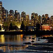 Vancouver Bc City Skyline And Deadman's Island Art Print