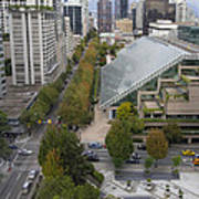 Vancouver Bc Downtown Cityscape View Art Print