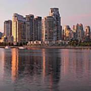 Vancouver Bc Waterfront Condominiums Art Print