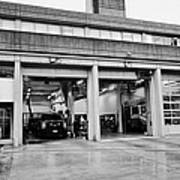 Vancouver Fire Rescue Services Hall 2 In Downtown Eastside Bc Canada Print by Joe Fox