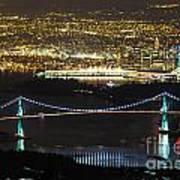 Vancouver Nightlights Art Print