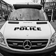 Vancouver Police Mercedes Response Van Vehicle Bc Canada Art Print by Joe Fox