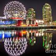 Vancouver Science World In False Creek - By Sabine Edrissi Art Print