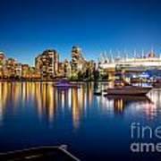 Vancouver Skyline - By Sabine Edrissi Art Print