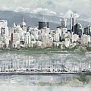 Vancouver Skyline Art Print by Maryam Mughal