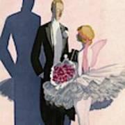 Vanity Fair Cover Featuring A Man In A Tuxedo Art Print