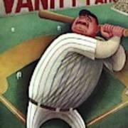Vanity Fair Cover Featuring Babe Ruth Art Print