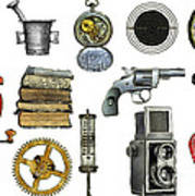 Various Object - Signs - Icons Art Print