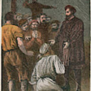 Vasco Da Gama On His Way To The East Art Print