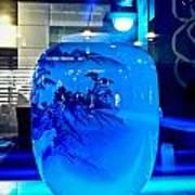 Vase Impression Bluish Art Print