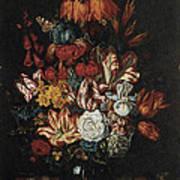 Vase Of Flowers Print by Abraham Bosschaert