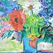 Vase Of Flowers Art Print by Brenda Ruark