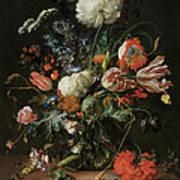 Vase Of Flowers Art Print by Jan Davidsz De Heem