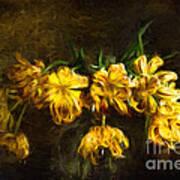 Vase Of Yellow Tulips Art Print
