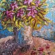 Vased Spring Lilies Art Print