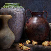 Vases And Urns Still Life Art Print by Tom Mc Nemar