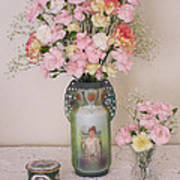 Vases Pink Cast And Trinket Box Art Print