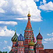 Vasily The Blessed Cathedral And The Red Square Of Moscow - Featured 3 Art Print