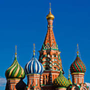 Vasily The Blessed Cathedral On Moscow Red Square - Featured 2 Art Print