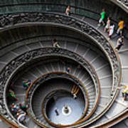 Vatican Spiral Staircase Print by Inge Johnsson